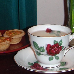 MiLady Carol's tea and quiche