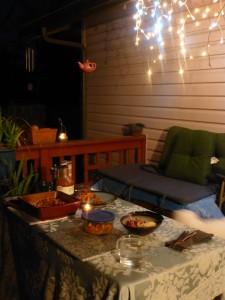 Romantic dinner on the deck